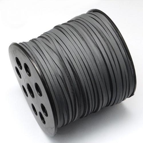 Faux Leather Leatherette Flat Cord 2.7-3mm Grey per metre