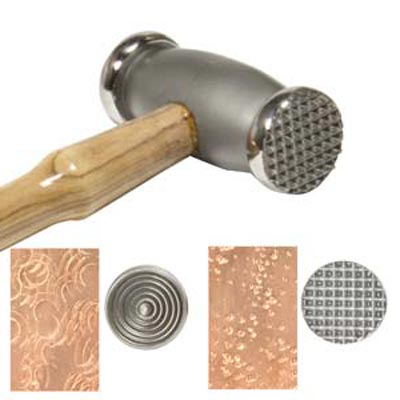 Beadsmith Texture Hammer Thin Circles - Speckles - Jewellers Tool x1