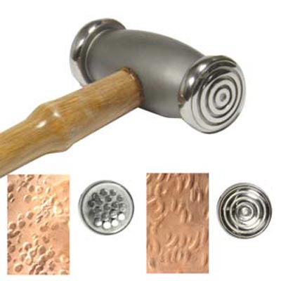 Beadsmith Texture Hammer Wide Circles - Dots - Jewellers Tool x1