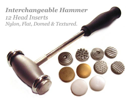 Beadsmith Interchangeable Texture/Smooth Hammer 12 Heads 12 oz