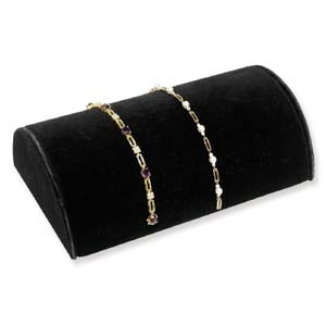 Bracelet Jewellery Half Moon Display -  Black Velvet