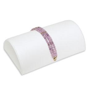 Bracelet Jewellery Half Moon Display -  White Leatherette