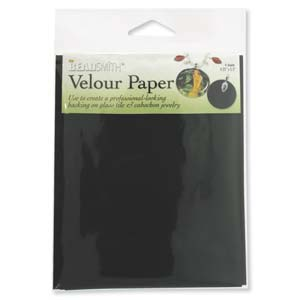 Beadsmith Velour Paper 4.2x5.5 inch 10.8x14cm - 4 Sheets for Backing Cabochon Jewellery