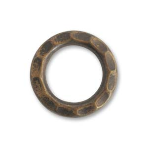 Vintaj Natural Brass 23mm Open Gear Ring x1
