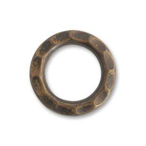 Vintaj Natural Brass 23mm Open Gear Ring x1