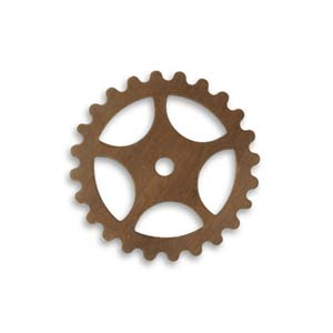 Vintaj Natural Brass 25mm Spoke x1