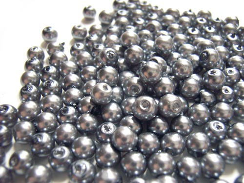 Faux Pearls 4mm Glass Beads 20 grams (choose colour)