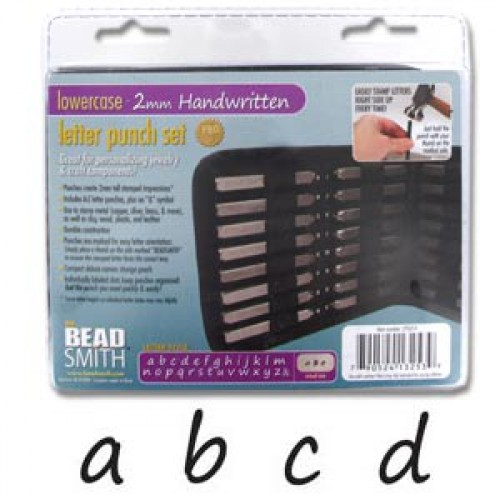 Beadsmith Handwritten 2mm Alphabet Lower Case Letter Stamping Set