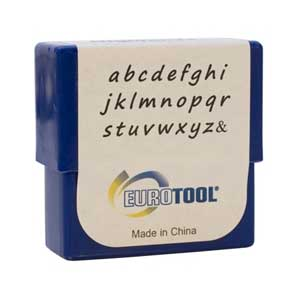Highlands Alphabet Lower Case Letter 2mm Metal Stamping Set - Eurotool