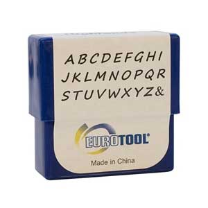 Highlands Alphabet Upper Case Letter 2mm Metal Stamping Set - Eurotool