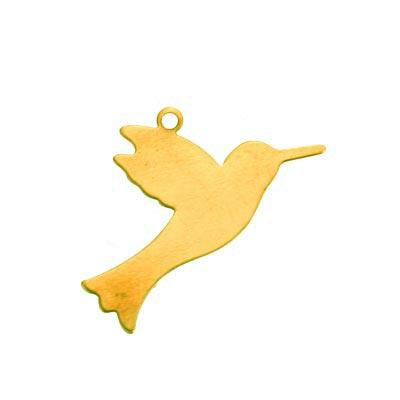 Brass Hummingbird 27.5x15.8mm 24g Stamping Blank Drop