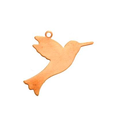 Copper Metal Stamping Blank, Hummingbird 27.5x15.8mm Stamping Blank Drop 24ga x1