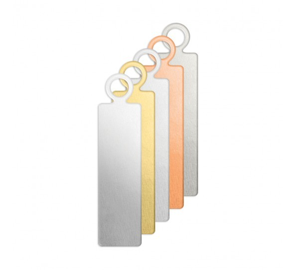 Copper Rectangle Tag 17.2x5.2mm 20g Stamping Blank x3