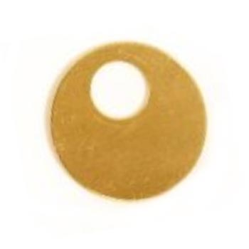 Brass Offset Washer 25.3mm 24g Stamping Blank x1