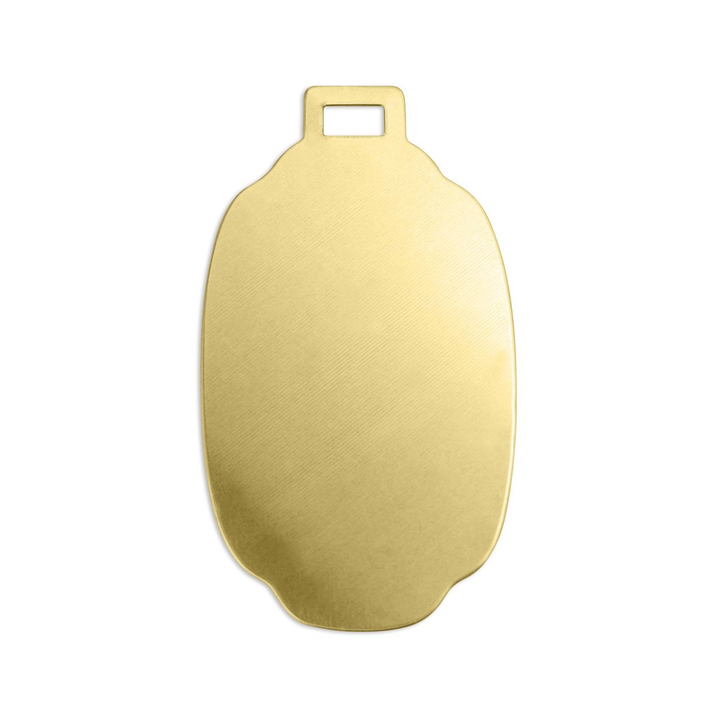 Brass Large Luggage Tag 53x30mm (2 1/8 inch) 24ga Stamping Blank x1