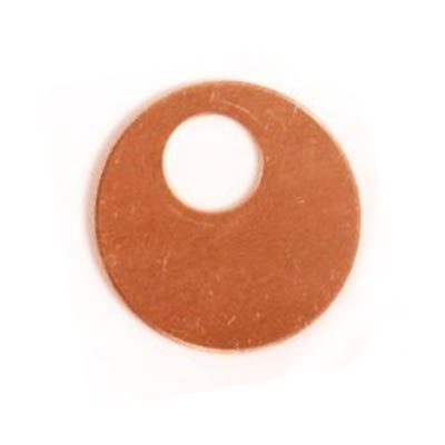 Copper Offset Washer 25.3mm 24g Stamping Blank x1
