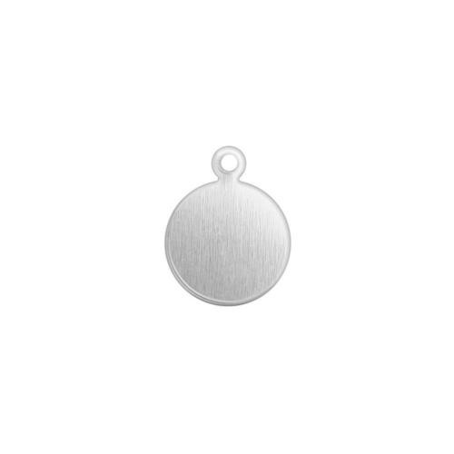 Alkeme Silver Soft Strike Circle Jewellery Tag 10mm 18ga Stamping Blank x5