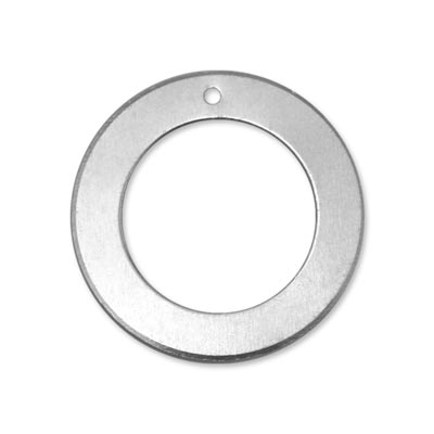 Alkemé Silver Soft Strike Washer 31.5mm 1 1/4 18g Stamping Blank w/Hole x1