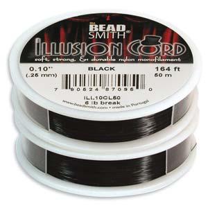 Beadsmith - Illusion Cord Monofilament .010 - Black - 50m