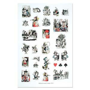 ITS Collage Sheet - Pre-Printed Images for Transfer - Alice in Wonderland