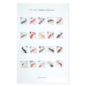 ITS Collage Sheet - Pre-Printed Images for Transfer - 19x19mm Goldfish