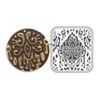 Vintaj Natural Brass - Sizzix DecoEmboss Die - Ikat Pattern