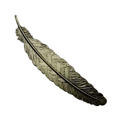 Bookmark for Beading - Brass Feather 11sx24mm Gunmetal Black