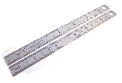 Stainless Steel 6 inch /15.5cm Rulers x2
