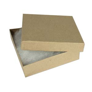 "Jewellery Gift Boxes - Natural Kraft 3.5x3.5x1"" - 90x90x26mm"