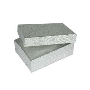 """Jewellery Gift Boxes - Silver Foil 3.25x2.25x1"""" - 80x56x26mm"""