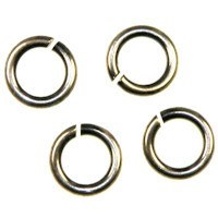 Trinity Brass Antique Silver Jump Ring 6mm 18g x1