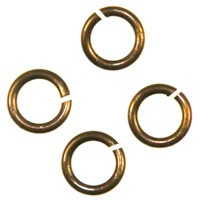 Trinity Brass Vintage Patina Jump Ring 6mm 18g x1