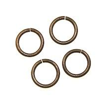 Trinity Brass Vintage Patina Jump Ring 6mm 20g x10