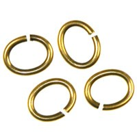 Trinity Brass Antique Gold Jump Ring 7x6mm Oval x1