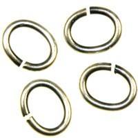 Trinity Brass Antique Silver Jump Ring 7x6mm Oval x1