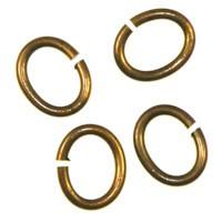 Trinity Brass Vintage Patina Jump Ring 7x6mm Oval x1