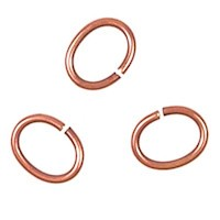Trinity Brass Antique Copper Jump Ring 7x5mm Oval x10