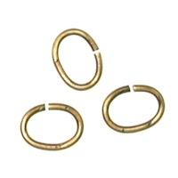 Trinity Brass Antique Gold Jump Ring 7x5mm Oval x10