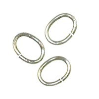 Trinity Brass Antique Silver Jump Ring 7x5mm Oval x10