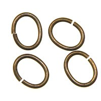Trinity Brass Vintage Patina Jump Ring 7x5mm Oval x10