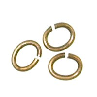 Trinity Brass Antique Gold Jump Ring 5x4mm Oval x10