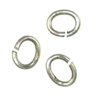 Trinity Brass Antique Silver Jump Ring 5x4mm Oval x10