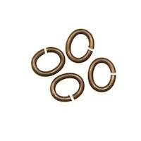 Trinity Brass Vintage Patina Jump Ring 5x4mm Oval x10