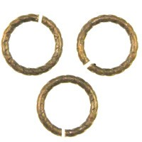 Trinity Brass Vintage Patina Jump Ring 9mm Etched x1