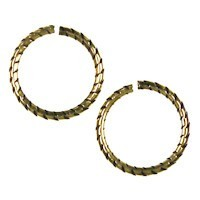 Trinity Brass Antique Gold Jump Ring 12mm Etched x1