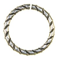 Trinity Brass Antique Silver Jump Ring 16mm Etched x1