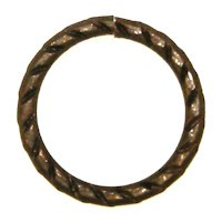 Trinity Brass Vintage Patina Jump Ring 16mm Etched x1