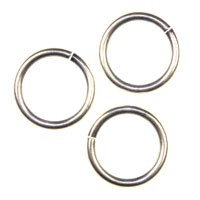 Trinity Brass Antique Silver Jump Ring 11.5mm x1
