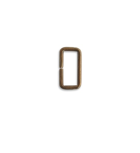 Vintaj Natural Brass - Rectangle Jump Ring 23x12mm x1