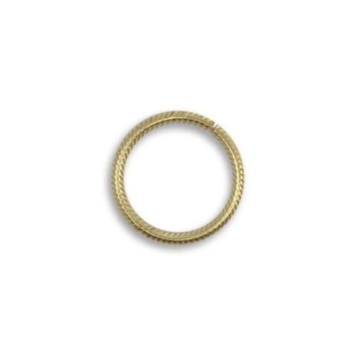 Vintaj Vogue Solid Brass 15.25mm 15ga Rib Cable Jump Ring x1 (Open)